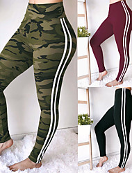cheap -Women's Sexy / Patchwork Yoga Pants - Black, Army Green, Red Sports Color Block Spandex Tights Fitness, Gym Activewear Compression, Push Up High Elasticity