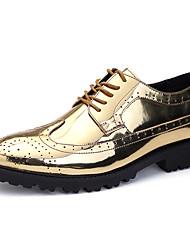 Недорогие -Муж. Официальная обувь Полиуретан Осень Туфли на шнуровке Золотой / Серебряный / Для вечеринки / ужина