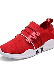 cheap -Women's Knit / Mesh Summer Comfort Athletic Shoes Running Shoes / Walking Shoes Flat Heel White / Black / Red