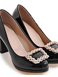 2291f27a76fa Femme Chaussures à Talons Escarpins Talon Bottier Cuir Verni Printemps Noir  / Beige / Rose / Quotidien