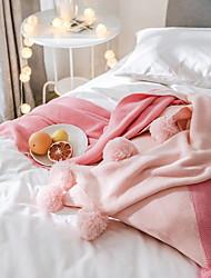 Недорогие -Супер мягкий, Активный краситель Однотонный Акриловые волокна одеяла