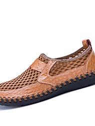 Недорогие -Муж. Эластичная ткань Лето Удобная обувь Мокасины и Свитер Коричневый / Зеленый / Синий