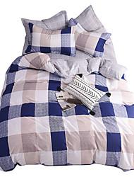 Недорогие -Пододеяльник наборы Stripes / Рябь 100% хлопок Активный краситель 4 предмета