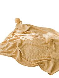 Недорогие -Супер мягкий, Активный краситель Однотонный / Гусиная лапка Хлопок одеяла