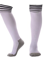 Недорогие -Подростки Футбольные носки Футбольные Носки Хлопок Мальчики Девочки В полоску Компрессионные носки Баскетбол Бейсбол Командные виды спорта Дышащий Впитывает пот и влагу Зима