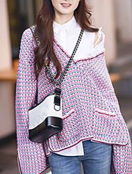 povoljno -Žene Dugih rukava Širok kroj Pullover Color block V izrez