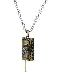 Недорогие -Муж. Старинный Классический Винтажное ожерелье Массивный Уникальный дизайн Аниме Cool Серебряный Бронзовый 62 cm Ожерелье Бижутерия 1шт Назначение Карнавал Для клуба