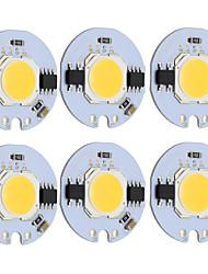 baratos -9 w rodada cob led chip inteligente ic ac 220 v para diy luz de teto downlight holofotes quente / branco frio (6 pcs)