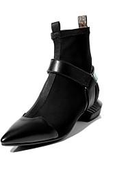 economico -Per donna Scarpe Nappa Autunno inverno Comoda Stivaletti Heelotypic Heel Nero / Verde militare