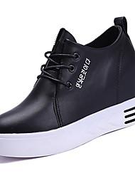 povoljno -Žene Cipele PU Ljeto Udobne cipele Sneakers Ravna potpetica Okrugli Toe Obala / Crn