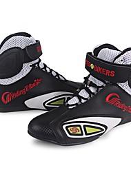 Недорогие -верховая езда дышащая мотоцикл сапоги мото обувь мотоцикл нескользящий верховая езда гоночный мотокросс pu кожаная обувь для мужчин женщины