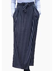 baratos -Mulheres Longo Lápis Saias - Listrado Cintura Alta
