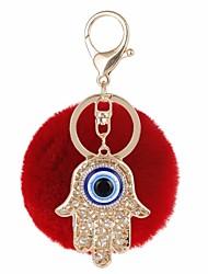 baratos -Olhos Chaveiro Roxo / Vermelho / Azul Forma Geométrica, Mão Hamsa, Mau Olhado Zircão, Pêlo de Coelho, Liga Casual, Fashion Para Presente / Encontro