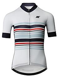 baratos -Mysenlan Mulheres Manga Curta Camisa para Ciclismo - Branco Moto Camisa / Roupas Para Esporte Poliéster / Zíper YKK