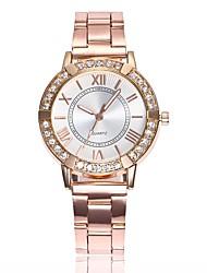 baratos -Mulheres Relógio Elegante Relógio de Pulso Quartzo Prata / Dourada / Ouro Rose Novo Design Relógio Casual imitação de diamante Analógico senhoras Fashion Elegante - Dourado Prata Ouro Rose Um ano
