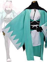 Недорогие -Вдохновлен Судьба / Великий заказ Okita Souji Аниме Косплэй костюмы Косплей Костюмы геометрический Длинный рукав кимоно Пальто Назначение Жен.