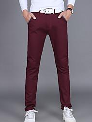 Χαμηλού Κόστους Στολές-Ανδρικά Βαμβάκι Chinos Παντελόνι Μονόχρωμο