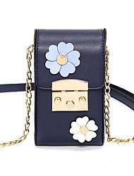 cheap -Women's Bags PU(Polyurethane) Mobile Phone Bag Buttons / Flower White / Black / Blushing Pink