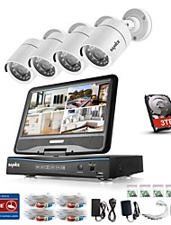 baratos -BNC 960H Tempo Real (960*576) 4 pcs 720p Cilíndrica 30 m 1TB