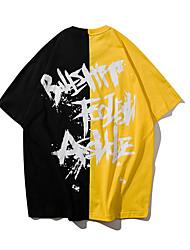 billige -mænds t-shirt - brev / solid farvet rund hals