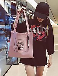 cheap -Women's Bags PU(Polyurethane) Shoulder Bag Pattern / Print Black / Blushing Pink / Light Grey