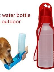 Недорогие -0.03-0.05 L Собаки / Коты Миски и бутылки с водой Животные Чаши и откорма Компактность / На открытом воздухе Красный / Синий / Розовый