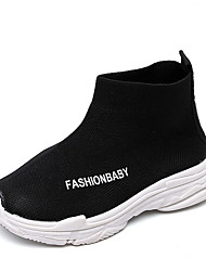 cheap -Boys' Shoes Knit / Elastic Fabric Fall / Spring & Summer Comfort Boots Walking Shoes Split Joint for Kids / Toddler Black / Gray / Red / Booties / Ankle Boots