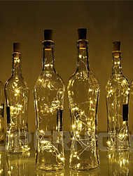 Недорогие -BRELONG® 10 шт. Пробка бутылки вина LED Night Light Тёплый белый / RGB / Белый Батарея с батарейкой Креатив / Свадьба / Украшение <5 V