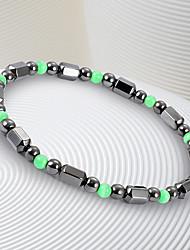 cheap -Women's Black Gemstone Stylish Strand Bracelet / Bracelet - Resin Creative Natural, Casual / Sporty, Fashion Bracelet Black For Birthday / Daily