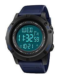 Недорогие -SANDA Муж. Спортивные часы электронные часы Японский Цифровой 30 m Защита от влаги Календарь Хронометр Plastic Группа Цифровой Роскошь Мода Серый / Хаки / Темно-синий - Серый Хаки Темно-зеленый