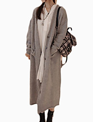 cheap -Women's Exaggerated Cardigan - Solid Colored