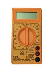 abordables -multimètre numérique tenu dans la main jaune d'affichage à cristaux liquides dt832 600v utilisant pour la maison et la voiture