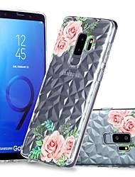 Недорогие -Кейс для Назначение SSamsung Galaxy S9 / S9 Plus / S8 Plus Прозрачный / С узором Кейс на заднюю панель Цветы Мягкий ТПУ
