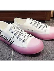 preiswerte -Damen Komfort Schuhe Leinwand Frühling Sommer Freizeit Sneakers Flacher Absatz Runde Zehe Blau / Rosa
