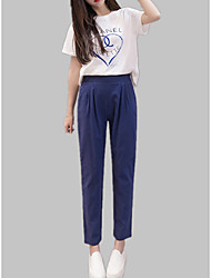 cheap -Women's Cotton Slim Harem / Chinos Pants - Solid Colored / Spring / Summer