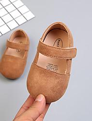 abordables -Fille Chaussures Microfibre Eté Premières Chaussures Ballerines Scotch Magique pour Bébé Marron / Bleu / Rose