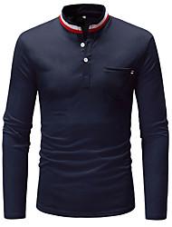 billige -Herre - Farveblok Basale T-shirt