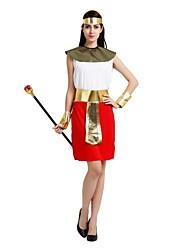 billige -Egyptiske costumer Dragter Dame Halloween / Karneval / Barnets Dag Festival / Højtider Halloween Kostumer Hvid Ensfarvet / Halloween Halloween
