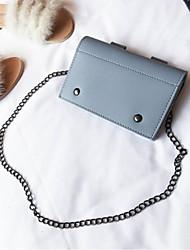 cheap -Women's Bags PU(Polyurethane) Mobile Phone Bag Buttons Blue / Almond