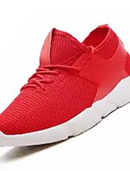 Недорогие -Жен. Обувь Сетка Весна Удобная обувь Спортивная обувь Для прогулок На плоской подошве Круглый носок Черный / Красный