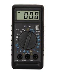 Недорогие -Портативный цифровой мультиметр dt181 lcd для дома и автомобиля