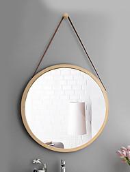 Недорогие -Зеркало Зеркальная поверхность Модерн Дерево 1шт - Зеркальная поверхность Украшение ванной комнаты
