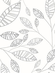 Недорогие -Оконная пленка и наклейки Украшение Обычные / С узором Цветы ПВХ Стикер на окна