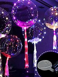 Недорогие -3m 30led воздушный шар со светодиодной лентой светящихся светодиодов для свадебных украшений день рождения новогодний новый год
