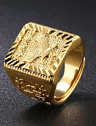 cheap -Men's Stylish Ring - 18K Gold Eagle Fashion Adjustable Gold For Daily Evening Party