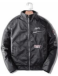 Недорогие -Муж. Кожаные куртки Слова Вышивка