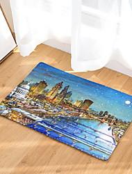 Недорогие -Коврики Геометрический рисунок / Панорама города Фланелет, Прямоугольный Высшее качество плед
