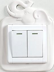 Недорогие -Наклейки для выключателя света - Светящиеся наклейки Геометрия В помещении