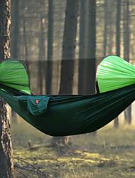 baratos -Rede para Acampamento com Tela Mosqueteira Ao ar livre Á Prova-de-Chuva, Respirabilidade Náilon para Equitação / Campismo - 2 Pessoas Laranja / Azul Escuro / Verde Escuro