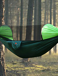 abordables -Hamaca para camping con red antimosquitos Al aire libre Resistente a la lluvia, Transpirabilidad Nailon para Senderismo / Camping - 2 Personas Naranja / Azul Oscuro / Verde Oscuro